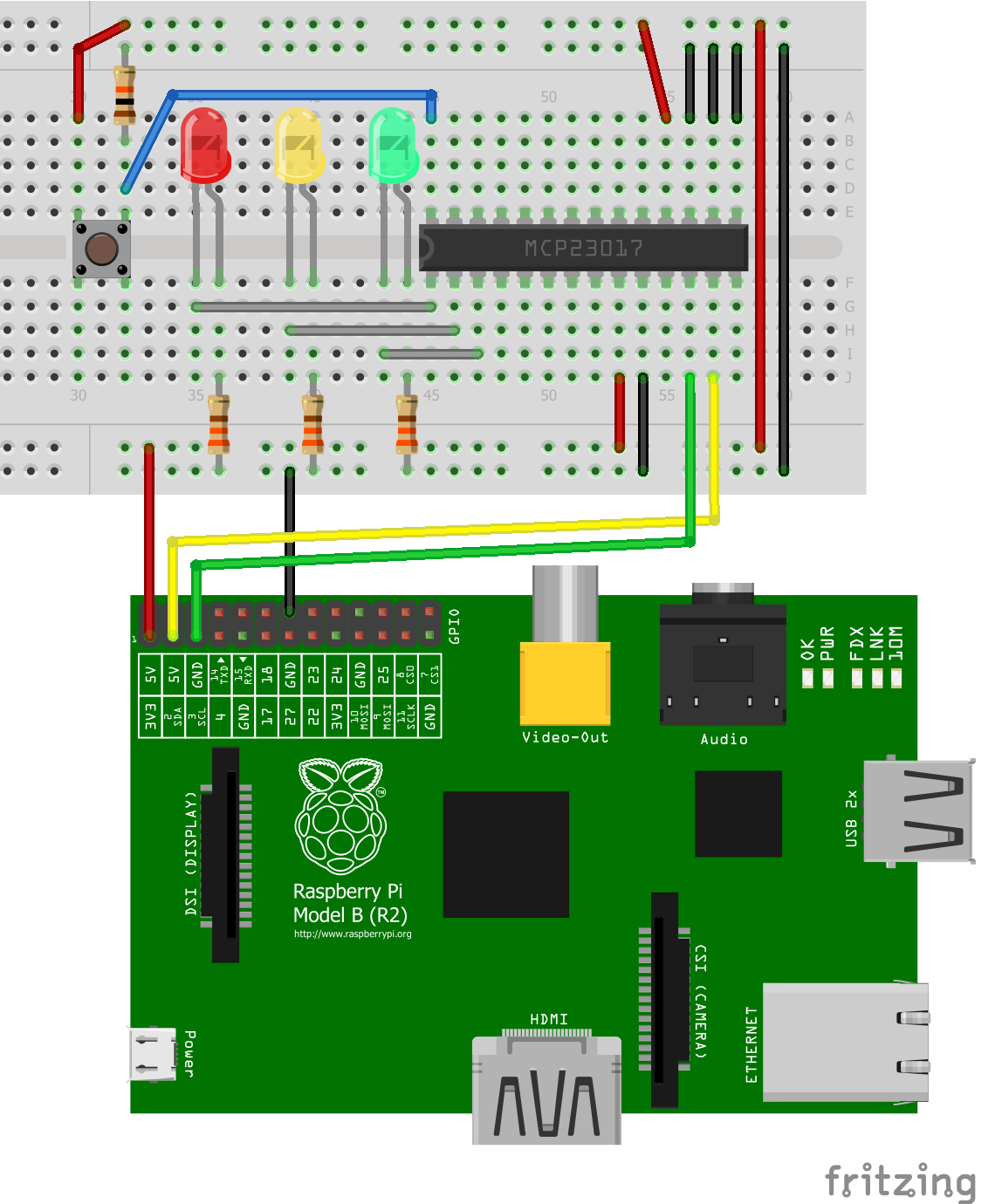 Expand Raspberry Pi GPIOs with I2C Port Expander