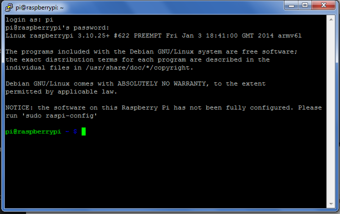 Raspberry Pi SSH Verbindung - Putty