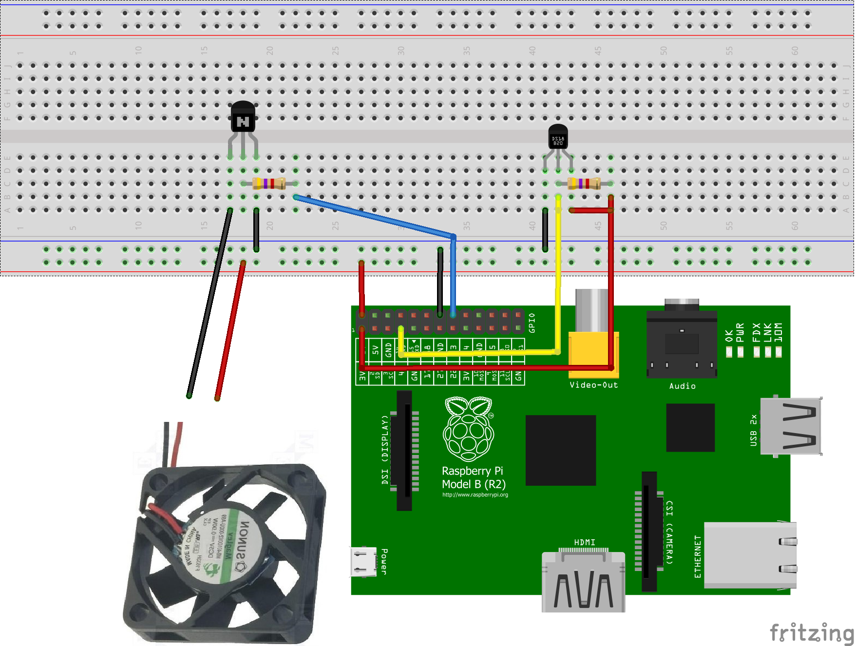 Fan control for better Overclocking of the Raspberry Pi