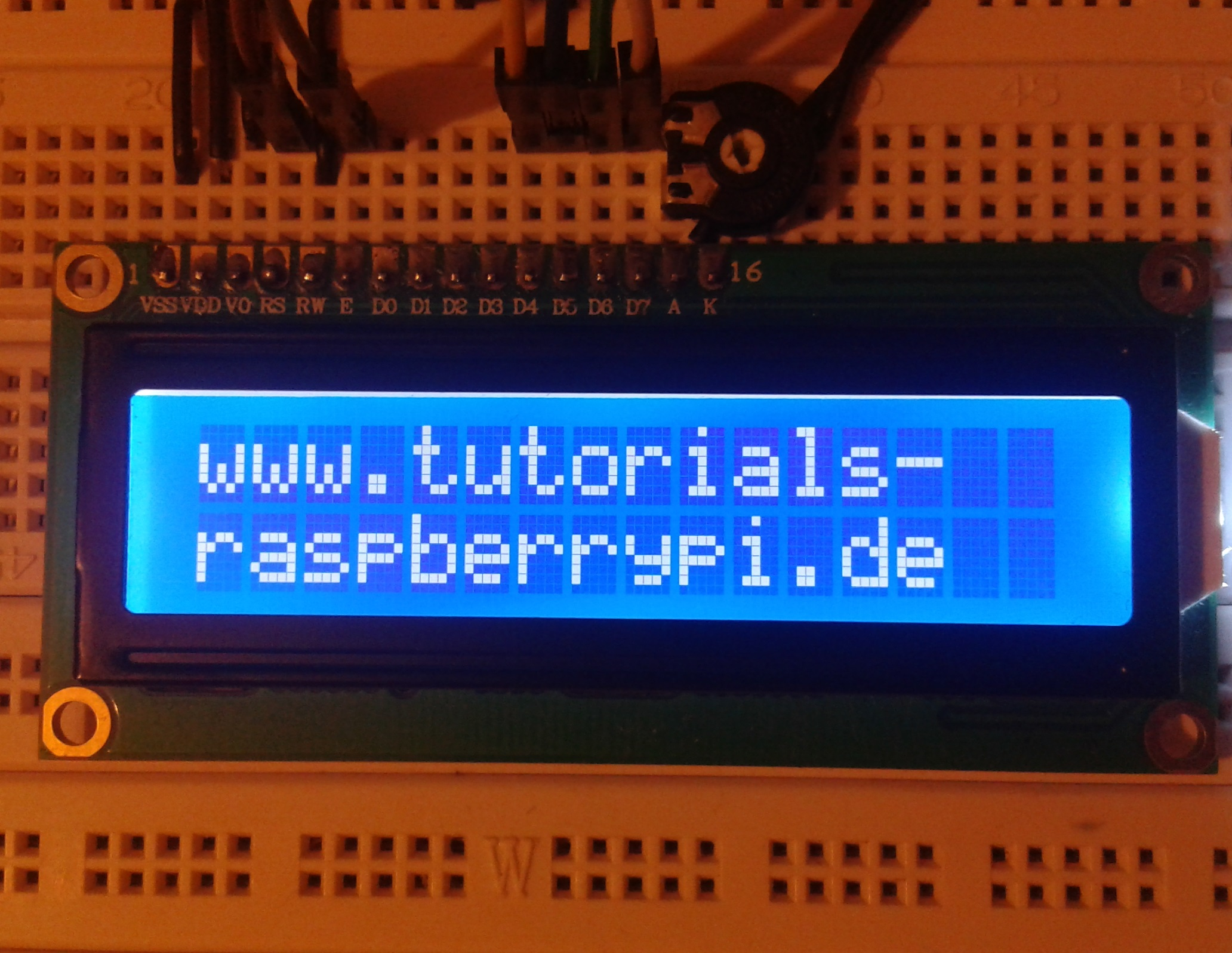 Raspbery Pi LCD Display