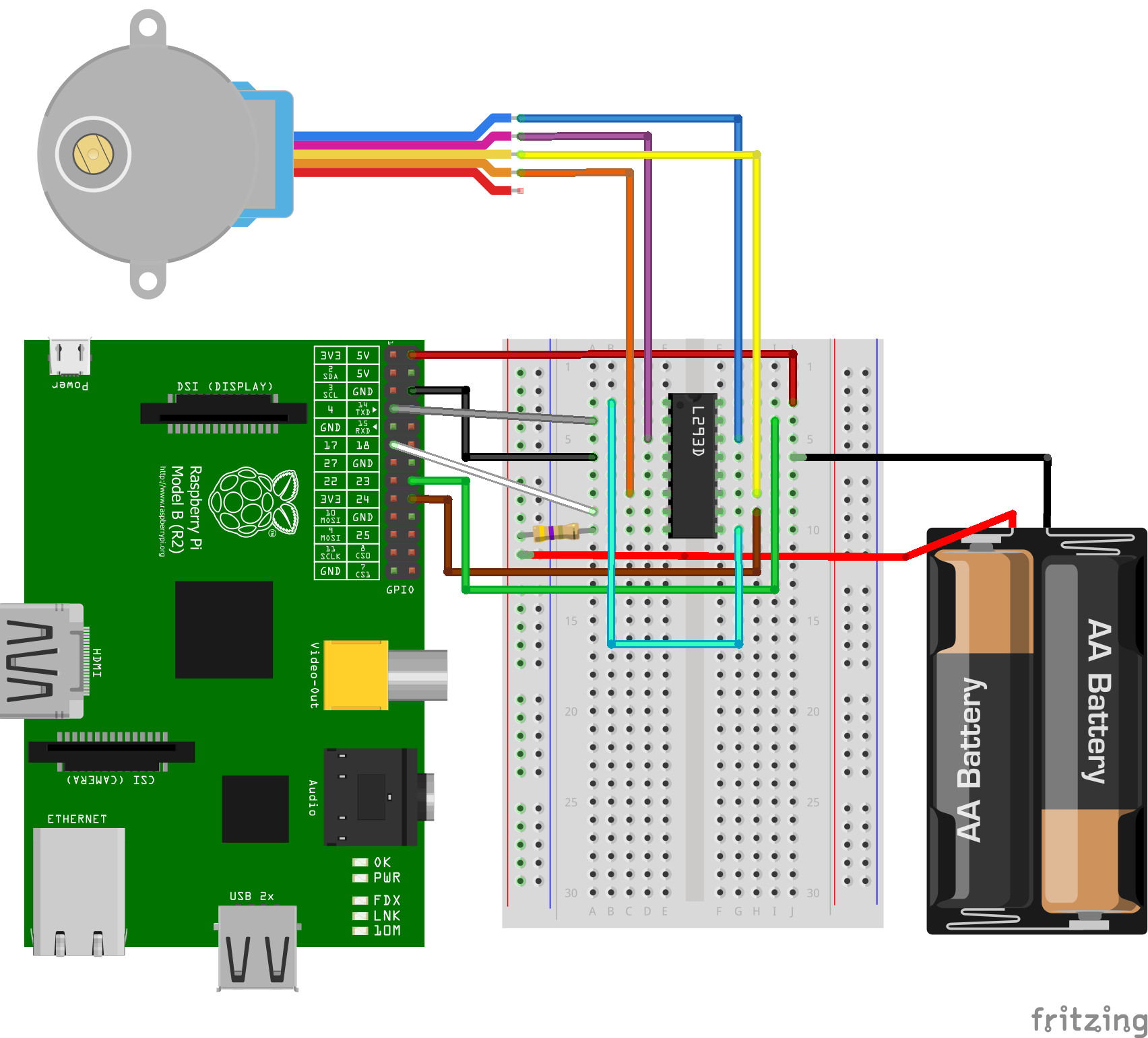 l293dSteckplatine raspberry pi stepper motor control with l293d uln2003a Single Phase Motor Wiring Diagrams at reclaimingppi.co