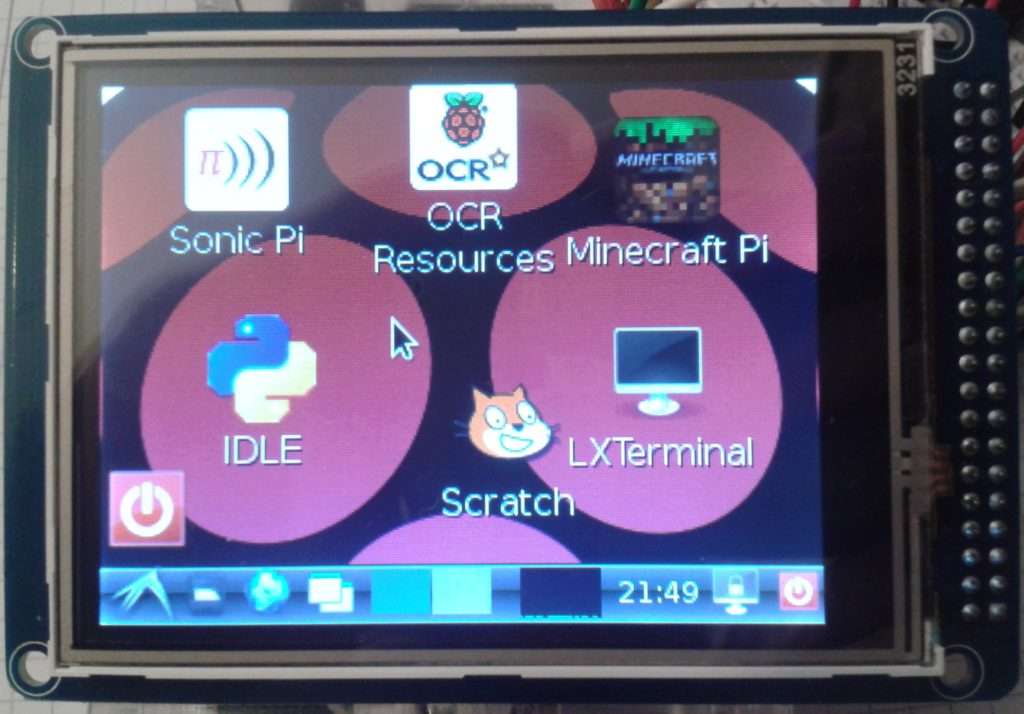 LCD Touch Display (3.2″) am Raspberry Pi