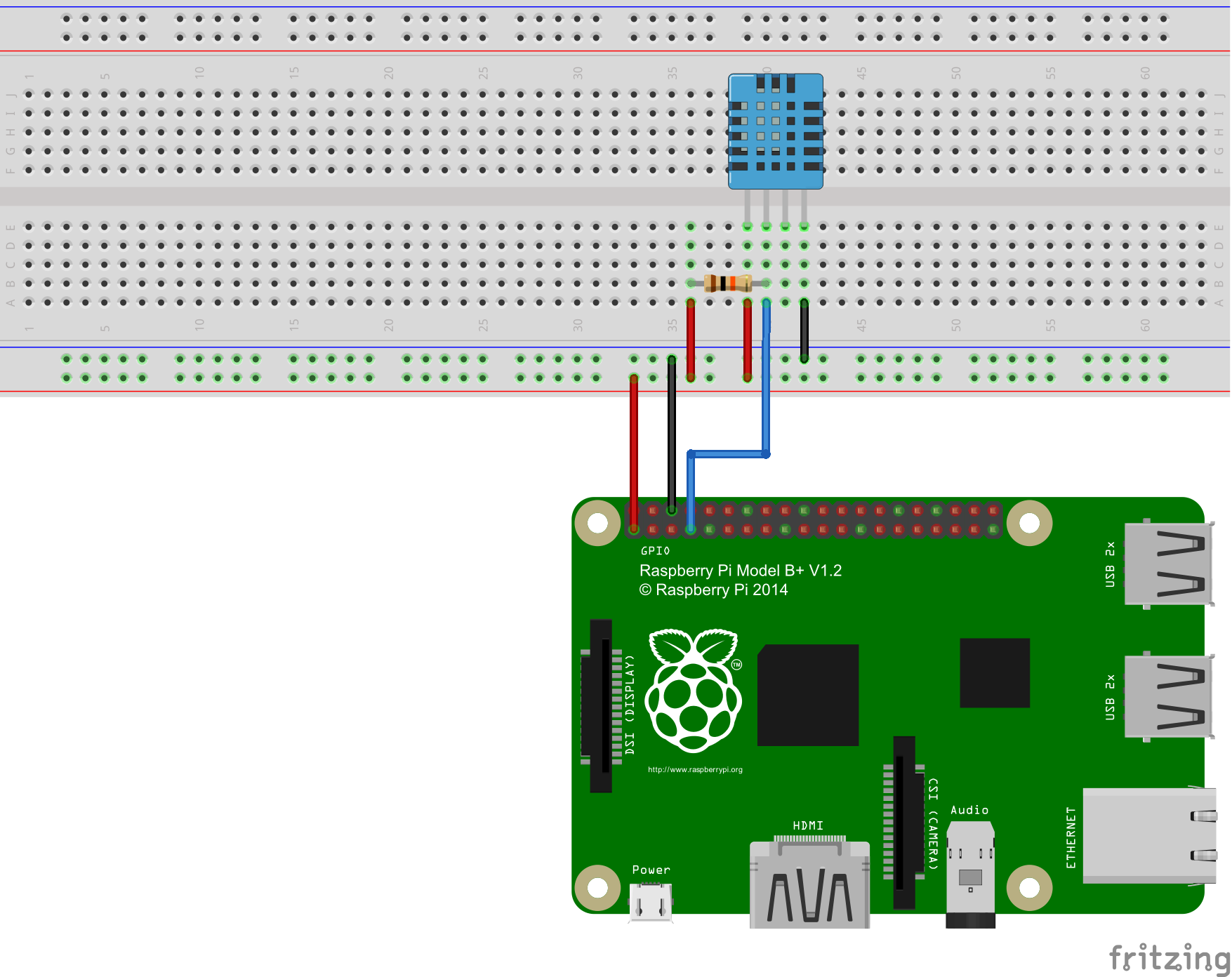 Raspberry Pi Measure Humidity And Temperature With Dht11 Dht22 Sensor Circuit Wiring Diagrams Also Schematic Construction