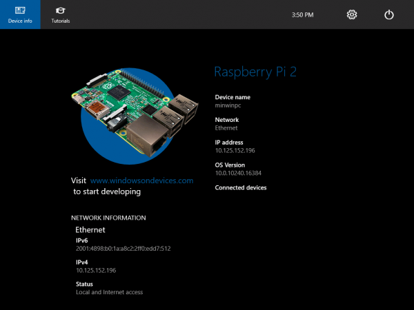 Install Windows 10 IoT on the Raspberry Pi