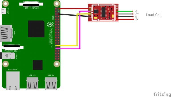 interface load cell wiring diagram build a digital raspberry pi scale  with weight sensor hx711   build a digital raspberry pi scale