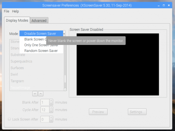Raspberry Pi Screensaver deactivation 2