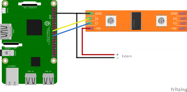How to connect and control a Raspberry Pi WS2801 RGB LED Strip Raspberry Pi Led Wiring Diagram on
