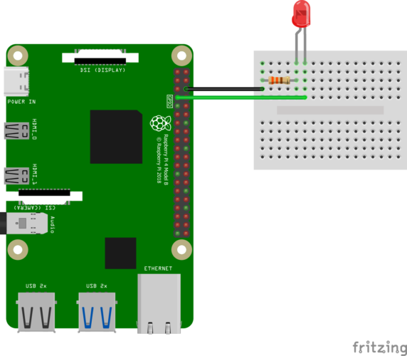 Simple Raspberry Pi Pinout - NodeRed