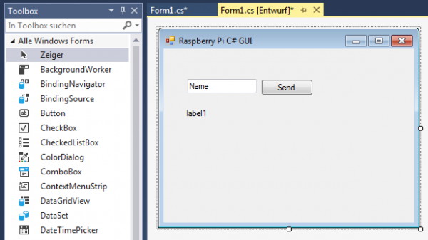 Visual Studio c# Raspberry GUI