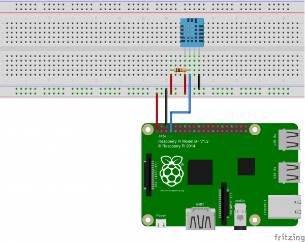 Raspberry Pi Humidity/Temperature Sensor Construction